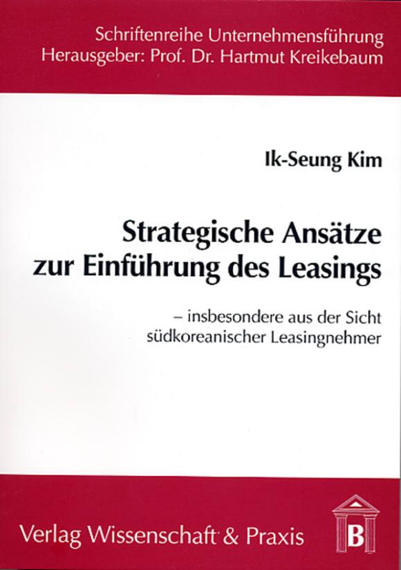 Cover Strategische Ansätze zur Einführung des Leasings