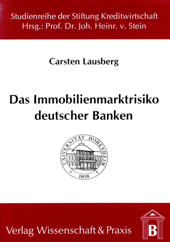 Cover Das Immobilienmarktrisiko deutscher Banken