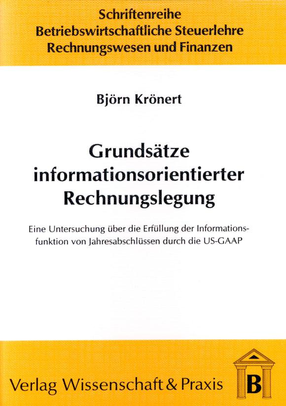 Cover Grundsätze informationsorientierter Rechnungslegung