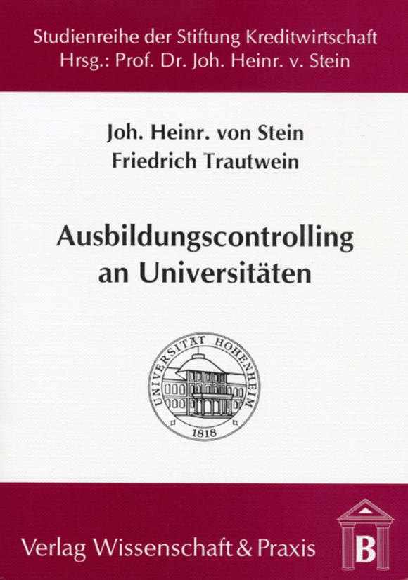 Cover Ausbildungscontrolling an Universitäten