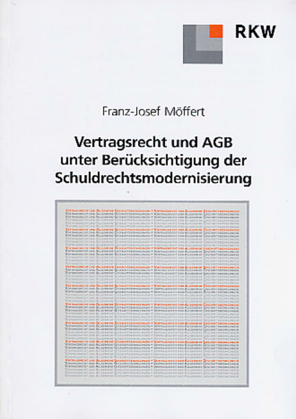 Cover Vertragsrecht und AGB unter Berücksichtigung der Schuldrechtsmodernisierung