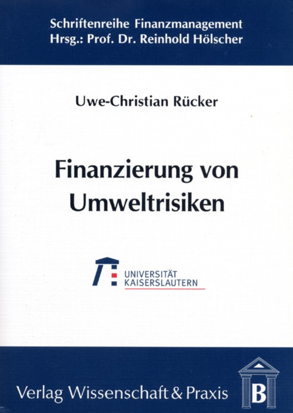 Cover Finanzierung von Umweltrisiken