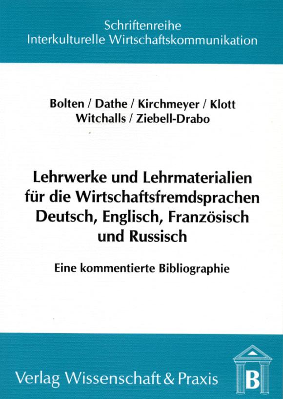 Cover Lehrwerke und Lehrmaterialien für die Wirtschaftsfremdsprachen Deutsch, Englisch, Französisch und Russisch