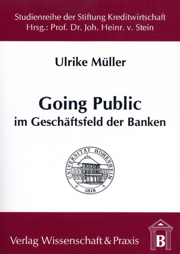 Cover Going Public im Geschäftsfeld der Banken