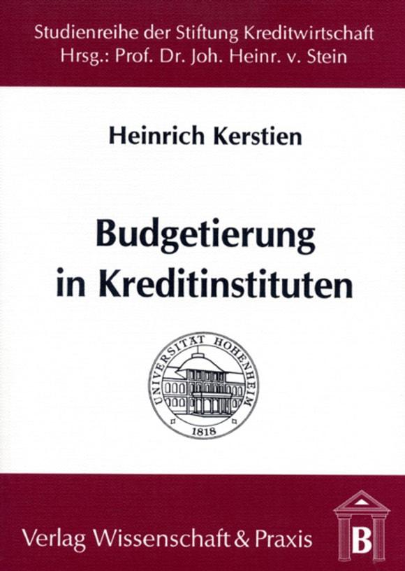 Cover Budgetierung in Kreditinstituten