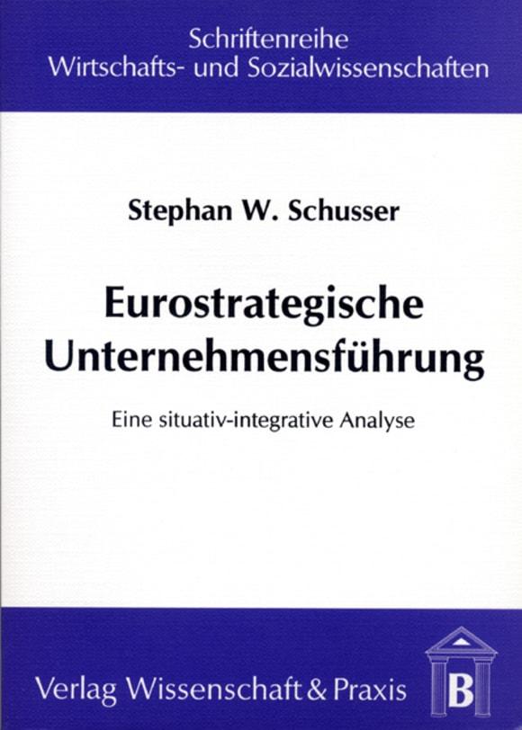 Cover Eurostrategische Unternehmensführung