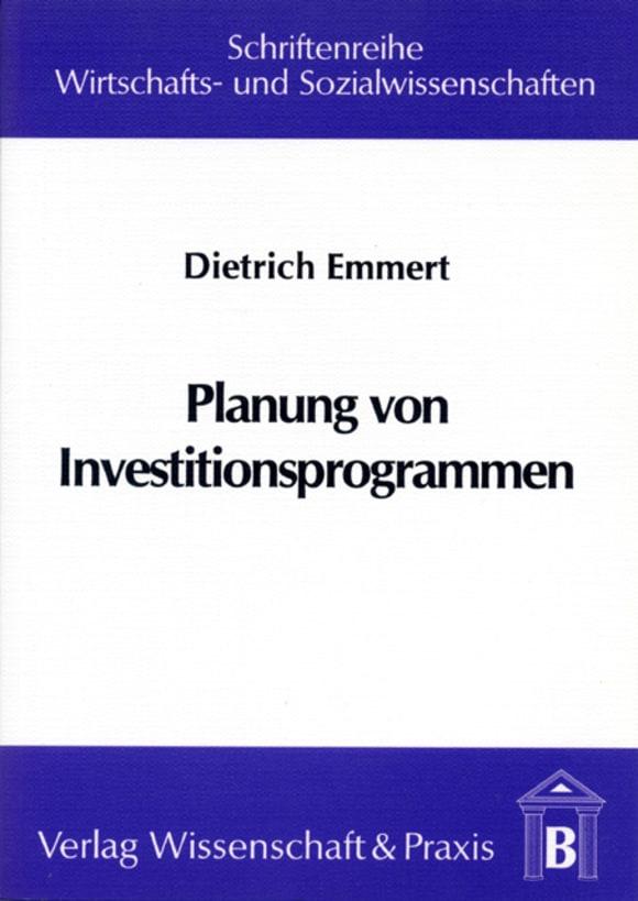 Cover Planung von Investitionsprogrammen