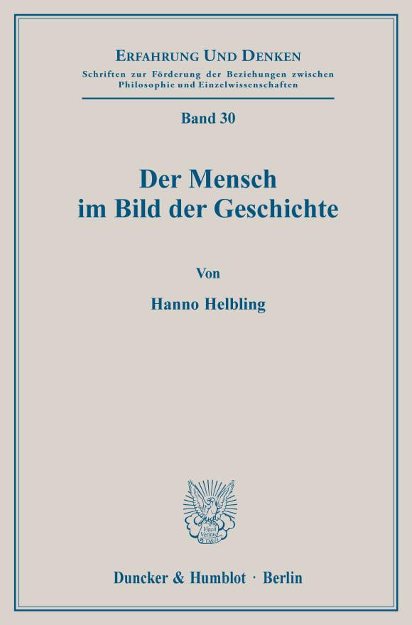 Cover Der Mensch im Bild der Geschichte