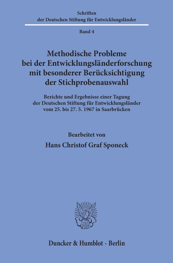 Cover Schriften der Deutschen Stiftung für Entwicklungsländer (DSE)