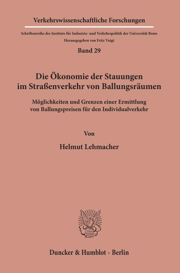 Cover Verkehrswissenschaftliche Forschungen (VWF)