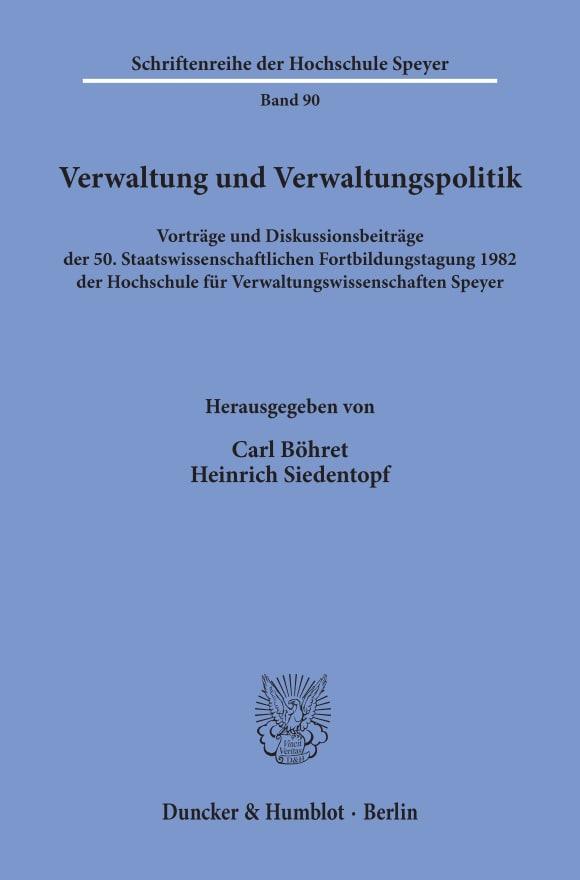 Cover Verwaltung und Verwaltungspolitik