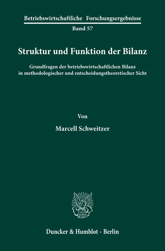 Cover Struktur und Funktion der Bilanz