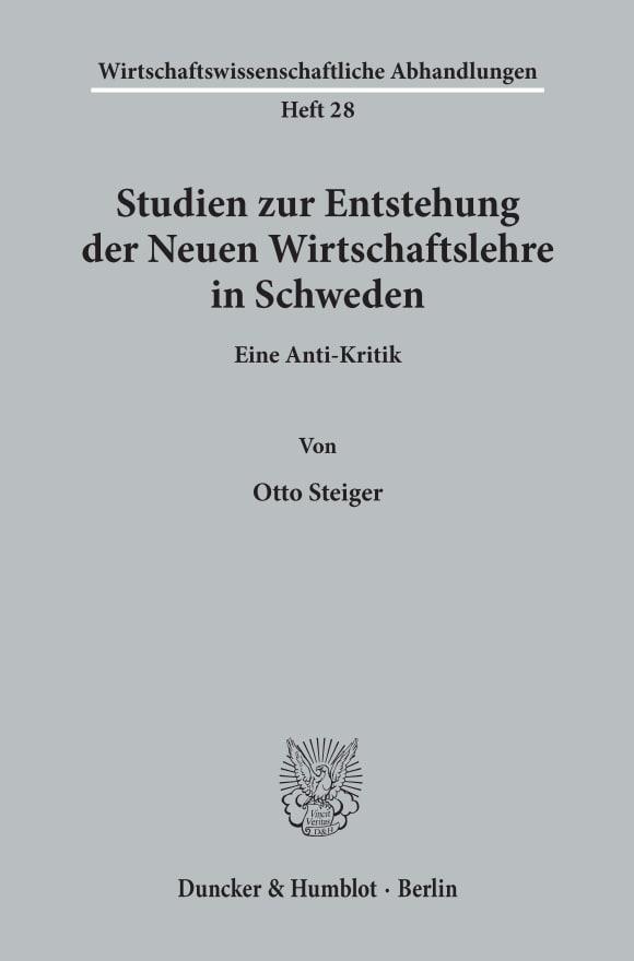 Cover Wirtschaftswissenschaftliche Abhandlungen (WAH)