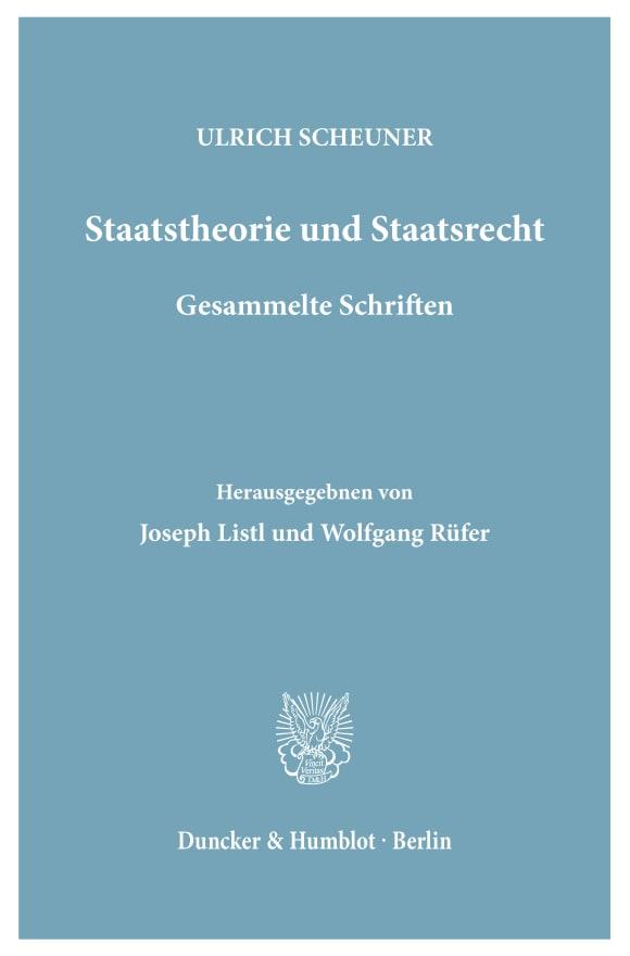 Cover Staatstheorie und Staatsrecht
