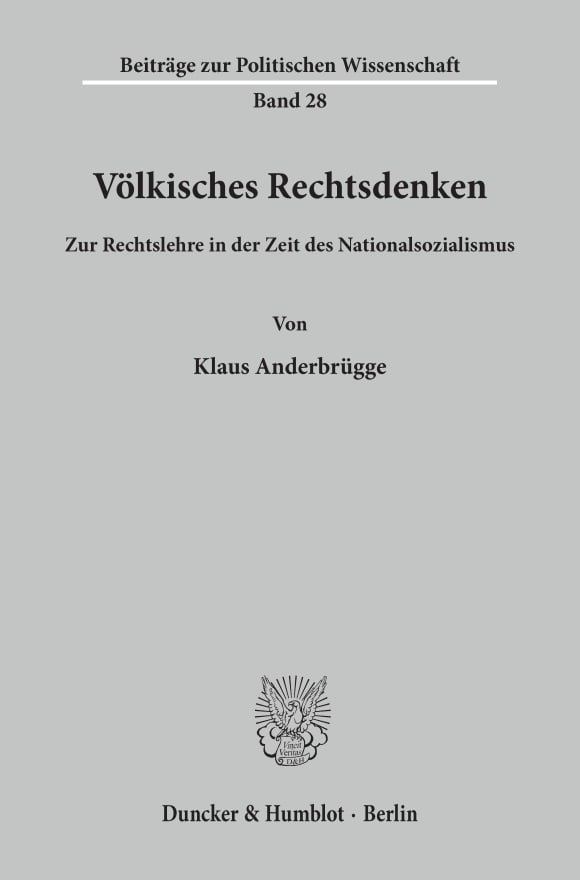 Cover Völkisches Rechtsdenken