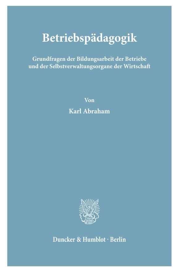 Cover Betriebspädagogik
