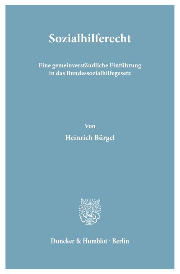 Cover Sozialhilferecht