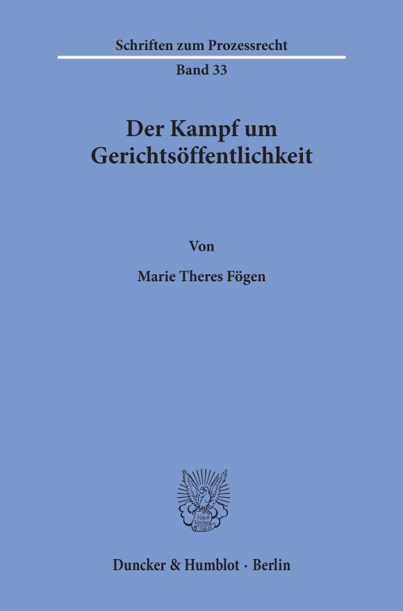 Cover Der Kampf um Gerichtsöffentlichkeit