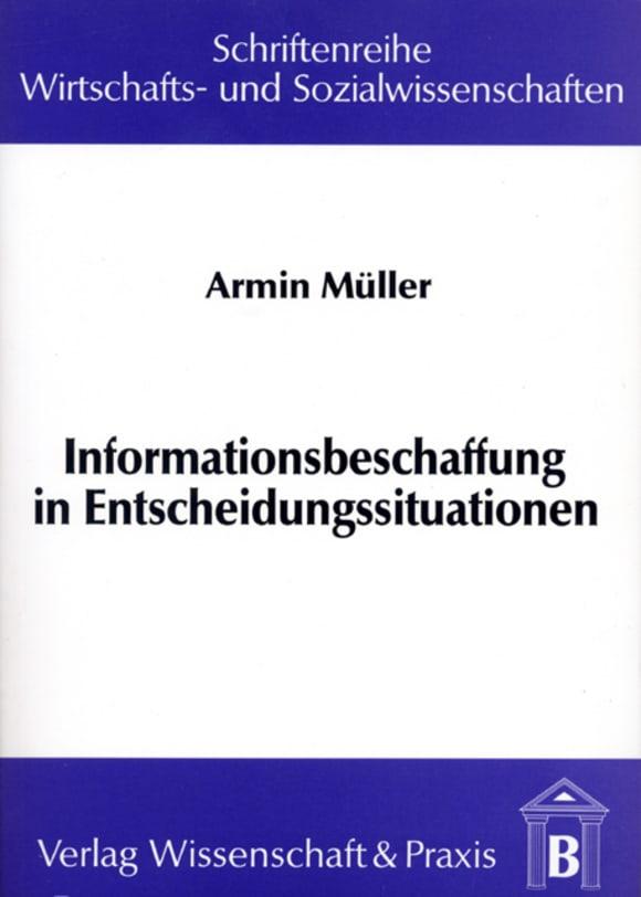 Cover Informationsbeschaffung in Entscheidungssituationen