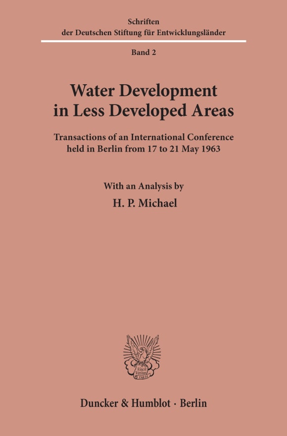 Cover Water Development in Less Developed Areas