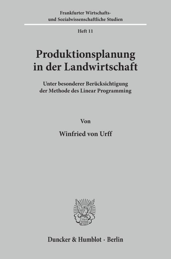 Cover Produktionsplanung in der Landwirtschaft