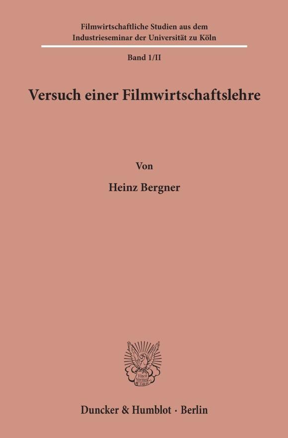 Cover Versuch einer Filmwirtschaftslehre