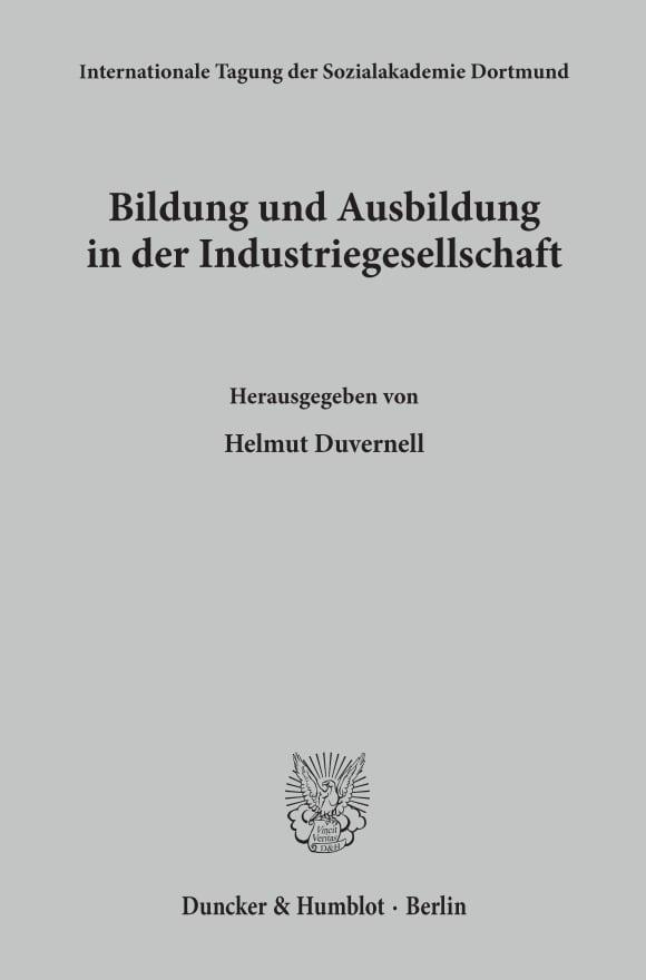 Cover Bildung und Ausbildung in der Industriegesellschaft