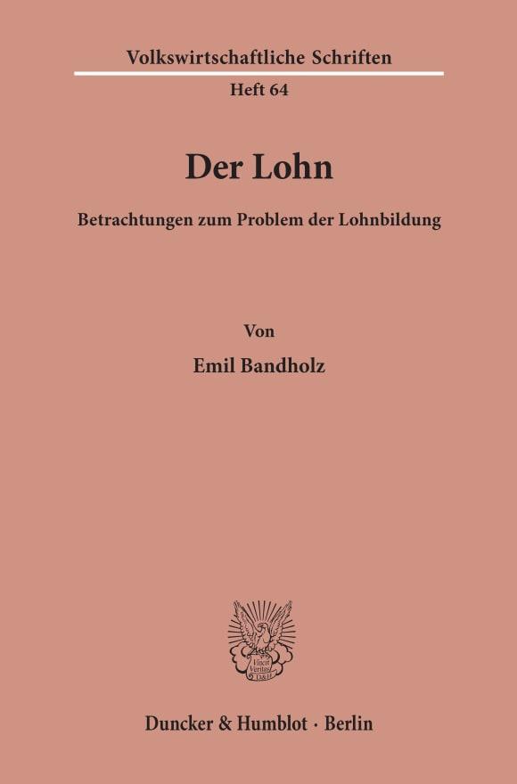 Cover Der Lohn