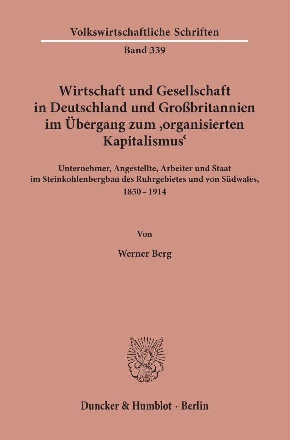 Cover Wirtschaft und Gesellschaft in Deutschland und Großbritannien im Übergang zum