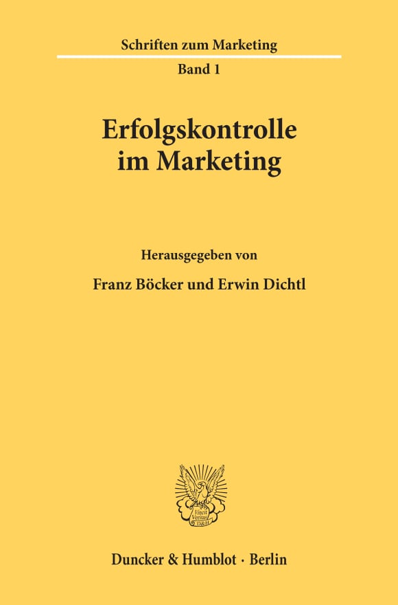 Cover Erfolgskontrolle im Marketing