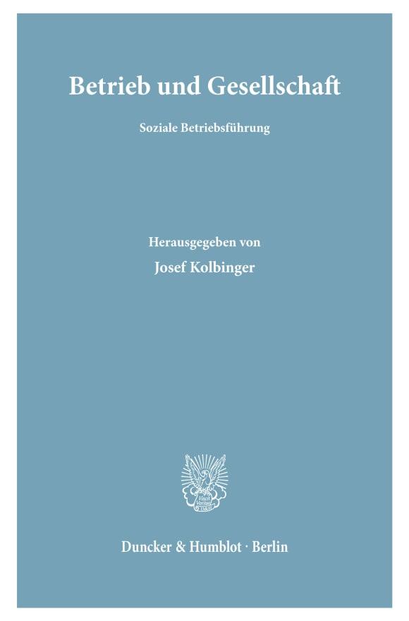 Cover Betrieb und Gesellschaft