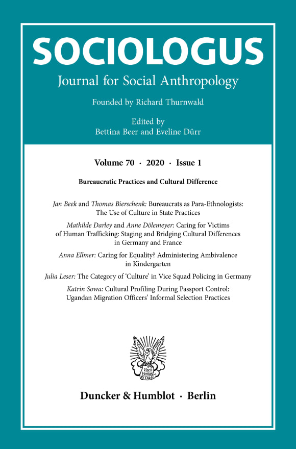 Cover Bureaucratic Practices and Cultural Difference (SOC 1/2020)