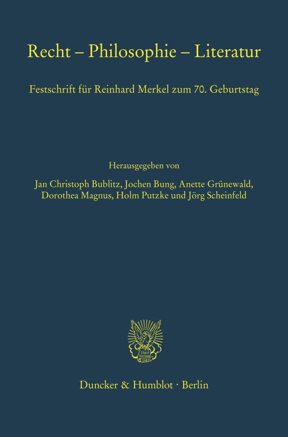Cover Recht – Philosophie – Literatur