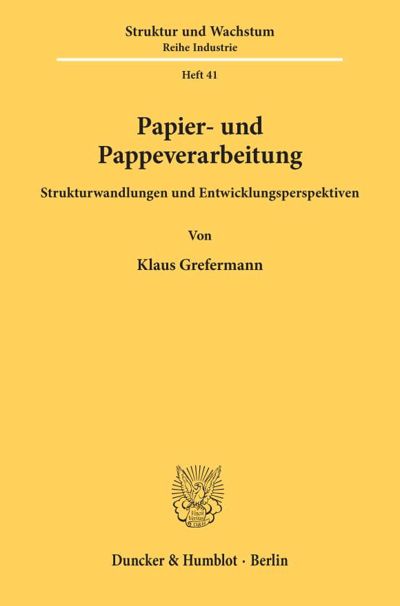 Cover Papier- und Pappeverarbeitung
