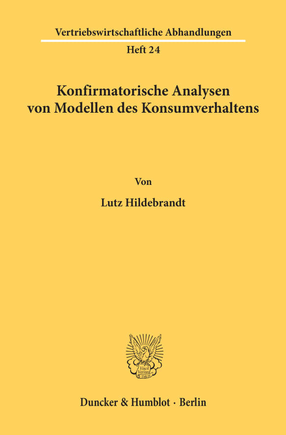 Cover Konfirmatorische Analysen von Modellen des Konsumverhaltens