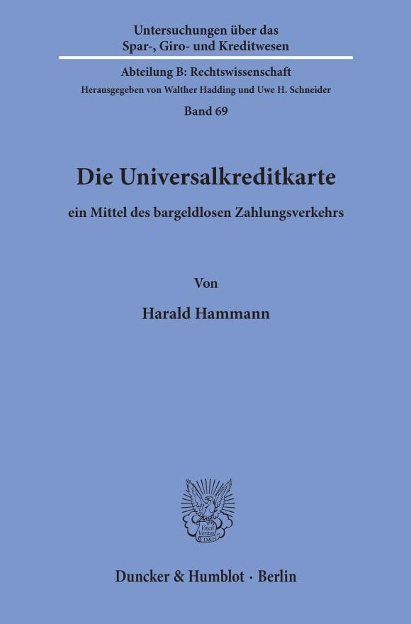 Cover Die Universalkreditkarte