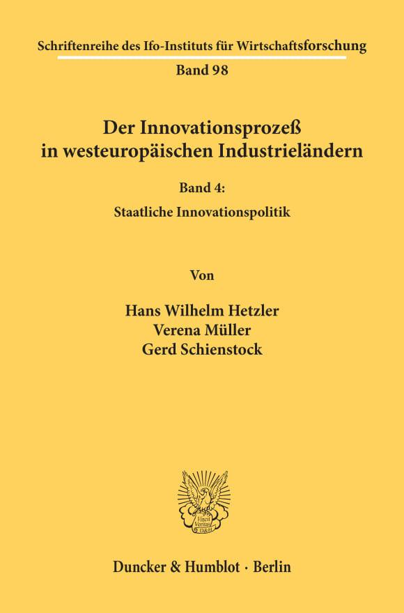 Cover Der Innovationsprozeß in westeuropäischen Industrieländern