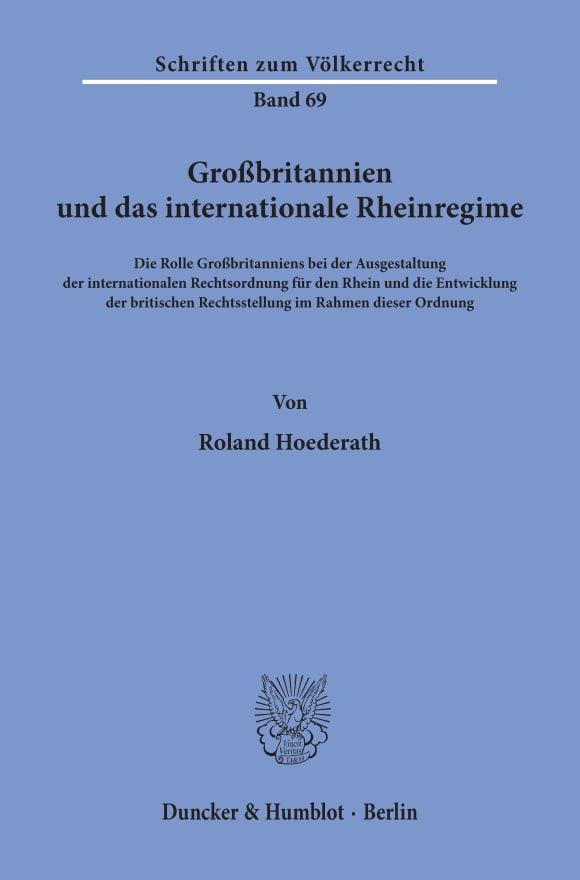 Cover Großbritannien und das internationale Rheinregime