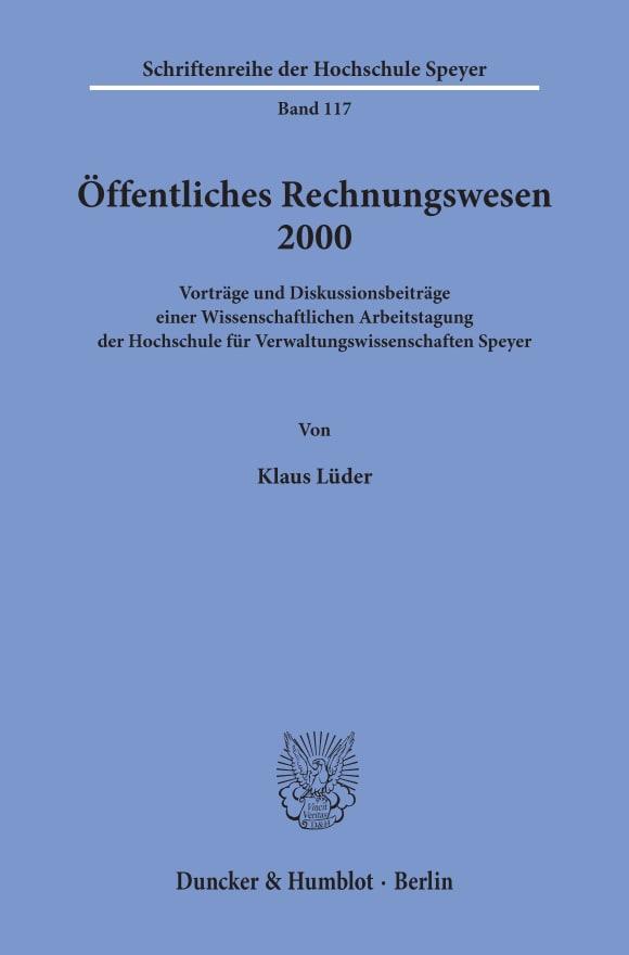 Cover Öffentliches Rechnungswesen 2000