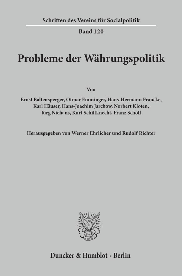 Cover Probleme der Währungspolitik