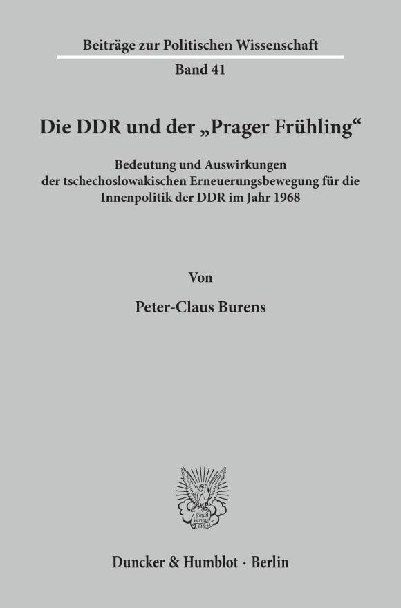 Cover Die DDR und der