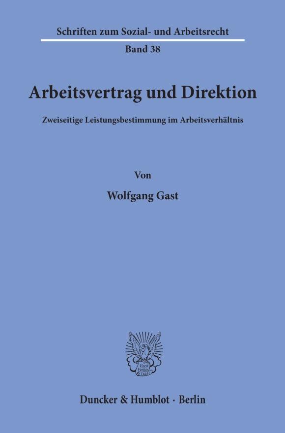 Cover Arbeitsvertrag und Direktion