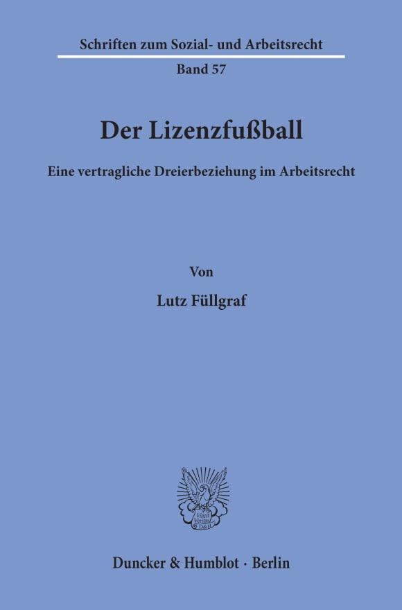 Cover Der Lizenzfußball
