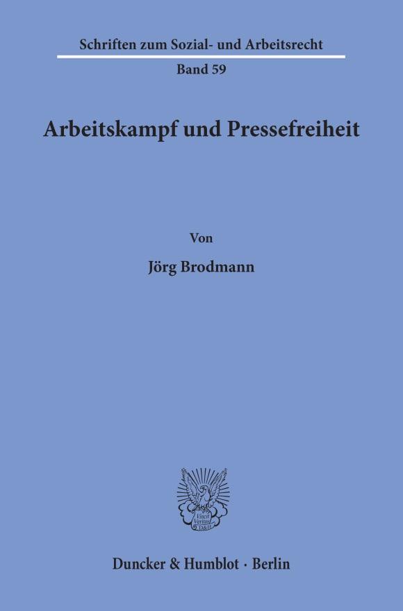Cover Arbeitskampf und Pressefreiheit