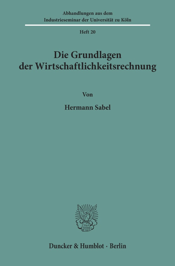 Cover Abhandlungen aus dem Industrieseminar der Universität zu Köln (AIK)