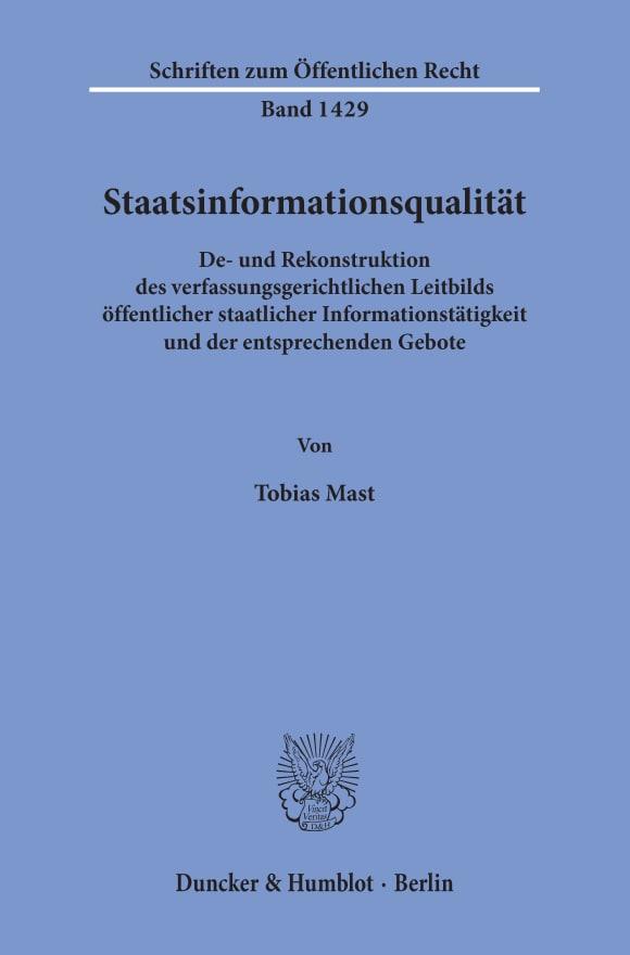 Cover Staatsinformationsqualität