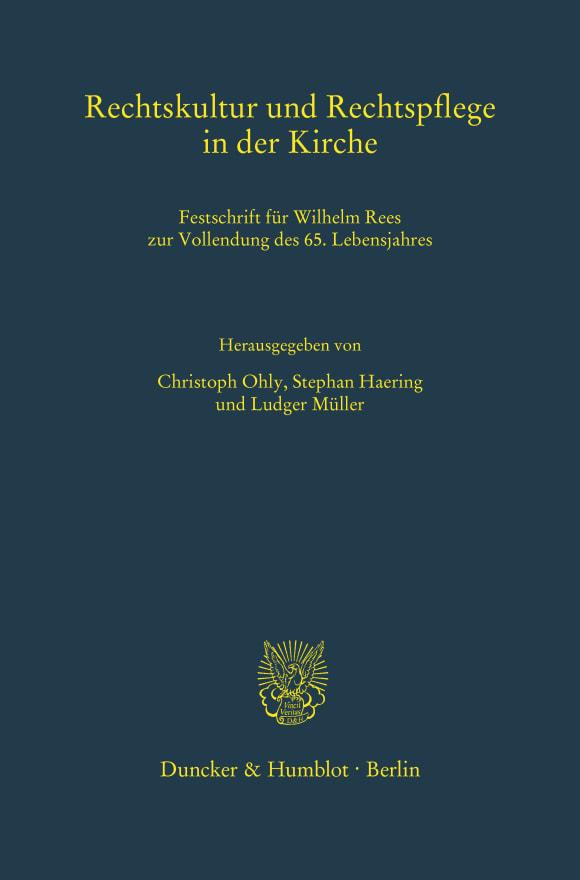 Cover Rechtskultur und Rechtspflege in der Kirche
