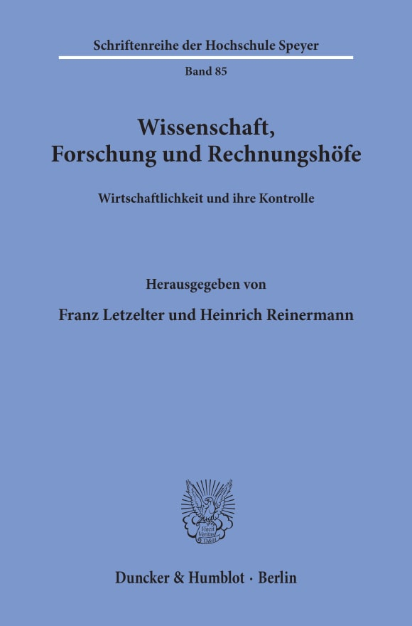 Cover Wissenschaft, Forschung und Rechnungshöfe