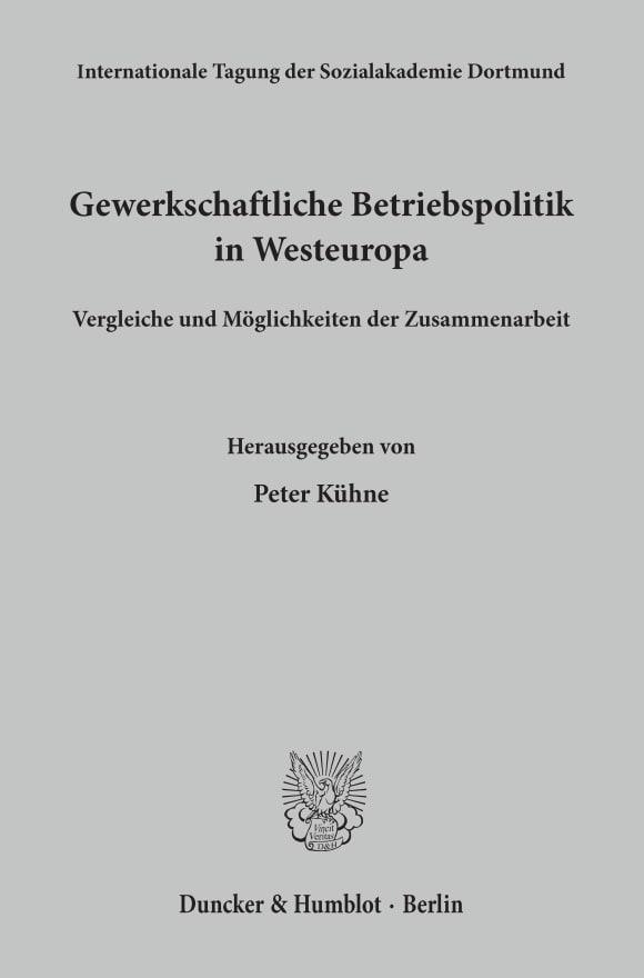 Cover Gewerkschaftliche Betriebspolitik in Westeuropa