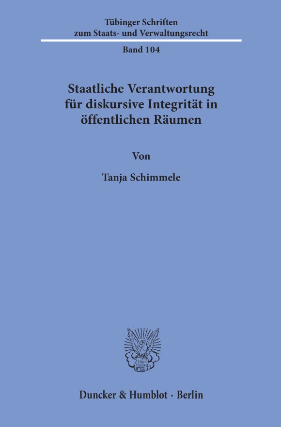 Cover Tübinger Schriften zum Staats- und Verwaltungsrecht (TSSV)